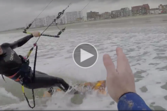 1rst Kitesurf session in Dunkerque