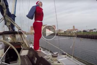 Le Père Noël à bord de La Julianne